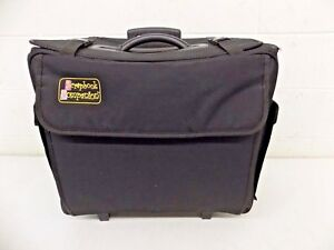 "Scrapbook Companion High-Quality Black Rolling Scrapbooking Tote 9x17x18"" GREAT"