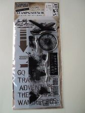 TIM HOLTZ COLLECTION STAMPERS ANONYMOUS MIXED-MEDIA STAMPS/STENCIL THMM105 BNIP