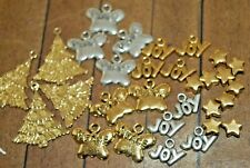 30 pieces of metal Holiday Beads and Charms- JBB - Gold Plated -Was $41- A1212a+
