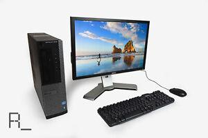 Dell 3010 i3 8GB RAM 250 500GB HDD 128 240 500 SSD Desktop + Monitor Bundle