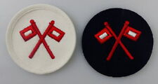 2 Aufnäher Seestreitkräfte Volksmarine Signal vgl. Band II Nr. 1106 a,b