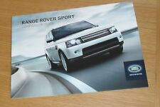 Range Rover Sport Specification Brochure 2012-2013 SDV6 SE HSE Red Autobiography