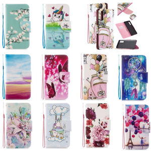 Pattern PU Leather Flip Wallet Case Phone Cover for Samsung S10 S20 S21 Plus S8