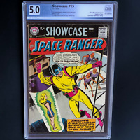 SHOWCASE #15 (DC 1958) 💥 5.0 OW PGX 💥 1ST APPEARANCE OF SPACE RANGER!