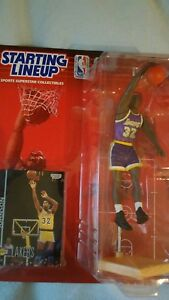 Kenner Starting Line Up 1998 Edition Magic Johnson Lakers Figure and Card New