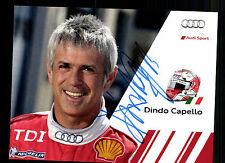 Dindo Capello AUTOGRAFO MAPPA ORIGINALE FIRMATO Motorsport + G 15369
