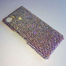 Crystal AB Rhinestone Bling Back Case for BlackBerry KeyOne w/Swarovski Crystal