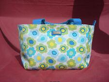 Jim Thompson Multi-color Floral Green Blue Canvas Women Handbag Bag Purse
