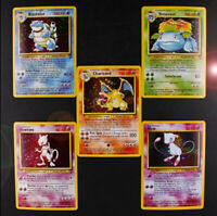 Lot Pokemon Charizard Blastoise Venusaur Mewtwo MEGA Flash Cards 5pcs/lot