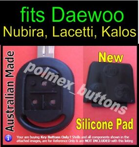fits Daewoo Lacetti Nubira Kalos Chevrolet remote - Replacement key Buttons pad