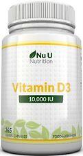 Vitamin D3 10000 iu 365 Soft gels capsules  Vit D3 10,000 IU(1 Full Year Supply)