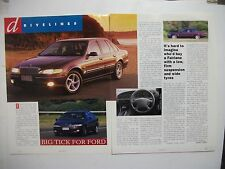 FORD NF TICKFORD FAIRLANE V8 2 PAGE MAGAZINE PREVIEW & DRIVE ARTICLE