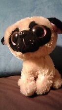 "Ty - Beanie Boos - 6"" - Pugsly the Dog - 2013 - Excellent with no hang tag"