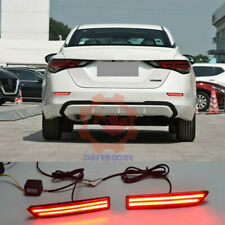 ❤Rear Bumper Reflector LED Light Refit 3 Functions For Nissan Sentra 2020~2021