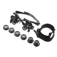 10/15/20/25X LED Eye Jeweler Watch Repair Magnifying Glasses Magnifier Loupe ALP