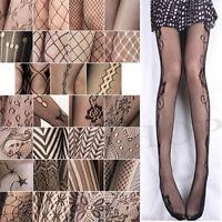 New Sexy Black Women Fishnet Net Pattern Jacquard Pantyhose Tights
