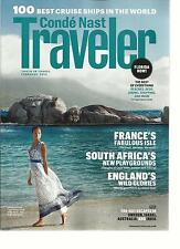 CONDE NAST TRAVELER, FEBRUARY, 2013  ( 100 BEST CRUISE SHIP IN THE WORLD )