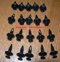 Plastic Rivet Fastener Screw Push Pins Rhino 450 660 700 Fender Hood Bed qty20