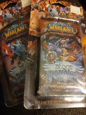 WORLD OF WARCRAFT BLOOD GLADIATORS 19 CARD GAMING HOBBY PACK lot 2 packs