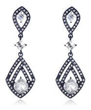 Drop Dangle Stud long Earrings 42 2018 Elegant White Crystal Rhinestone Ear