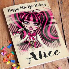 Monster High Personalised Birthday Card Free Shipping | Granddaughter Girls Mum