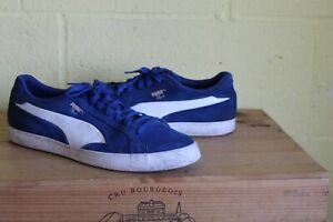 MEN'S BLUE SUEDE TRAINERS SIZE 10 44.5 BY PUMA MATCH USED CONDITION