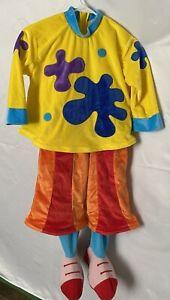 DISNEY Jo Jo's Circus Clown Costume Size XS (Toddler Size 4-6) YELLOW/ORANGE