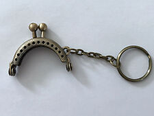 Small Antique Bronze Purse Bag Metal Arch Frame Kiss Clasp Lock Handle Coin