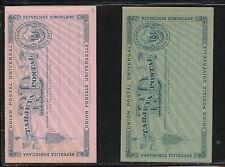 Dominican  Republic  2 postal  reply  cards  unused  pristine    KL0414