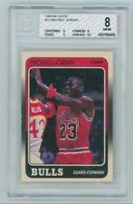 1988-89 Fleer Michael Jordan #17 BGS 8