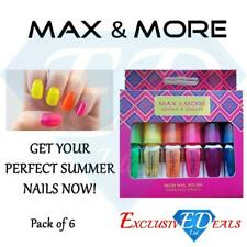Max and More Neon Nail Polish Nail Art Bright Neon Colours Great Gift 6 Colours