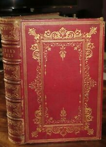 1868 THE POETICAL WORKS OF LORD BYRON WITH NOTES 12 PLATES DON JUAN FINE BINDING