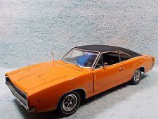 1/18 SCALE 1968 DODGE BENGAL CHARGER IN ORANGEBLACK BY ERTL AMERICAN MUSCLE .