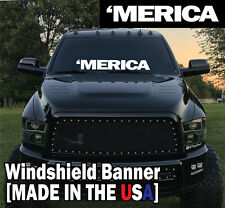 """'MERICA 6x40"""" Truck Decal Chevy Dodge Ford Diesel Lift USA patriot america vote"""