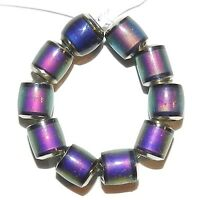 MC131 Color Changing Thermo Sensitive Sparkle Mood Beads 6mm Barrel 10pc