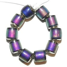 MC131L Color Changing Thermo Sensitive Sparkle Mood Beads 6mm Barrel 10pc