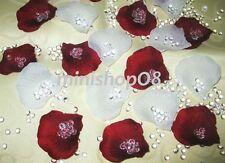 200 Rosenblätter Streudeko Hochzeit Deko Tischdeko Konfetti Neu weinrot weiß