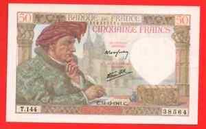 50 Francs Jacques Coeur 1941