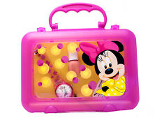 DISNEY:LORUS MINNIE MOUSE ANALOG QUARTZ WATCH WITH NAIL POLISH BOTTLE / LUNCHBOX