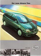 Prospekt / Brochure Nissan Almera Tino 07/2000