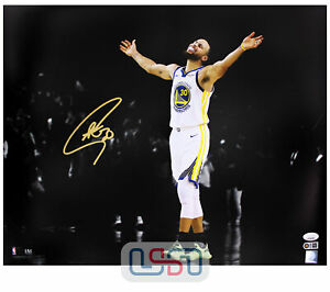 Stephen Curry Warriors Autographed Signed 16x20 Photograph Photo USA SM Auth #8