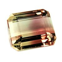 Flawless Tourmaline 8.19ct aaa bi color 100% natural earth mined from Mozambique