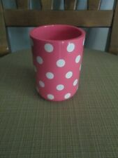 POTTERY BARN BATHROOM TUMBLER/CUP/TOOTHBRUSH HOLDER - BRIGHT PINK