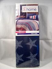 Double Fitted Polycotton Sheet Dark Blue with Stars - Stars & Stripes Range USA