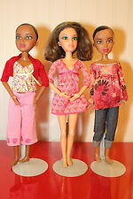 """3 Spin Master LIV 12"""" Dolls Dressed, Loose: Alexis x2 and Katie + 1 Wig"""