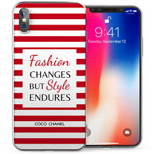 Apple iPhone X Case, Chanel Fabulous Quote Vintage Thin Protective Gel Cover