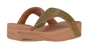 Fitflop Lottie Glitzy Artisan Gold Flip Flop Women's sizes 5-11 NEW!!!
