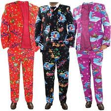Mens Chistmas Jackets Party Fancy Dress Novelty Pants Coat Waistcoat Costumes