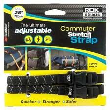 Oxford cinghie ROK LD 12mm Regolabile Moto Cinghie Per Bagagli Nero riflettente