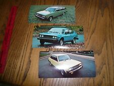 1977 Fiat 131 Coupe Wagon 128 Custom Large Factory Announcement Postcard - Three